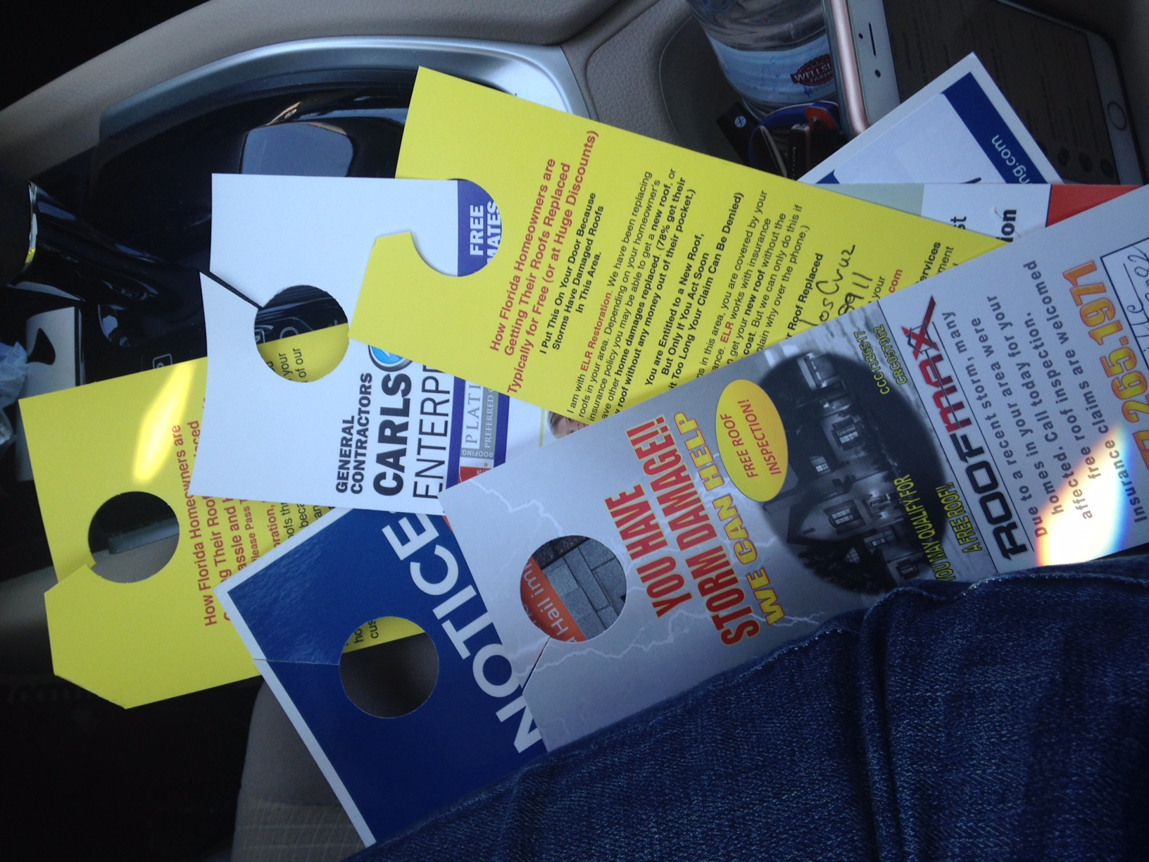 Assignment of Benefits--Five Roofing Flyers after Hail Storm