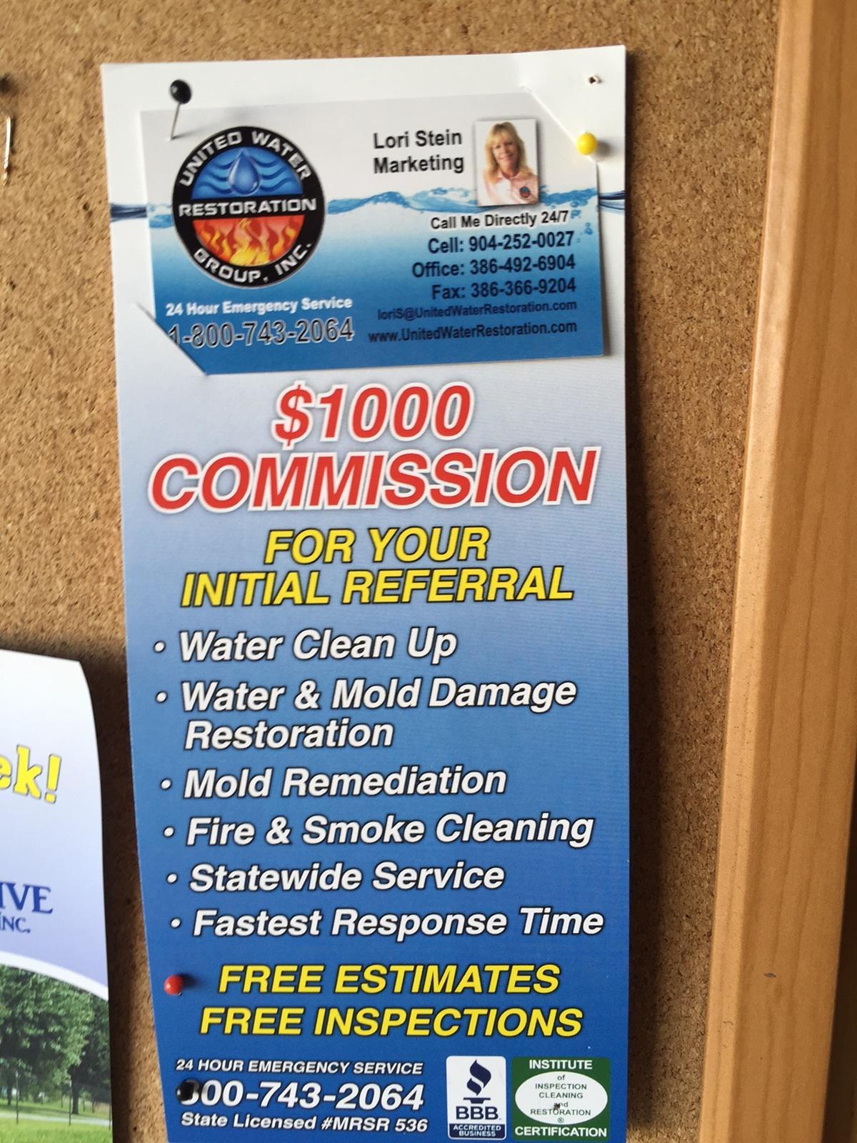 Assignment of Benefits--United Water, Door Hanger
